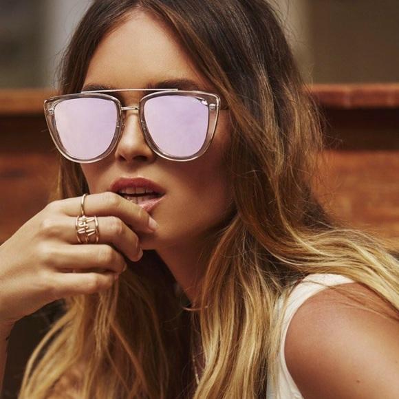 3b7bbd9490f1f QUAY Australia French Kiss Clear Rose Sunglasses